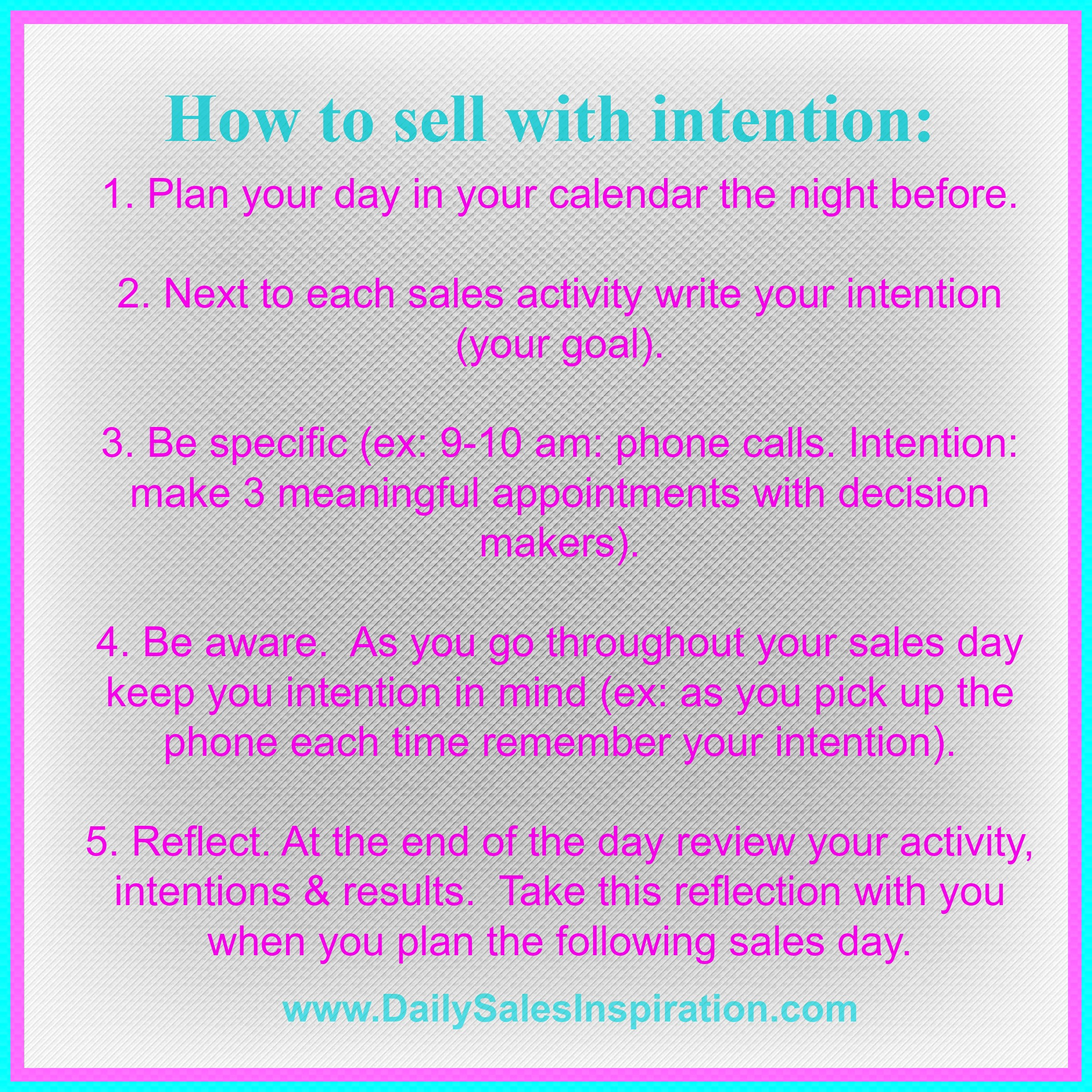 Selling: Daily Sales Inspiration